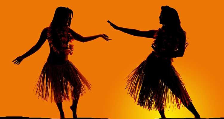 Hawaiian Honeymoon Dancers Silhouette