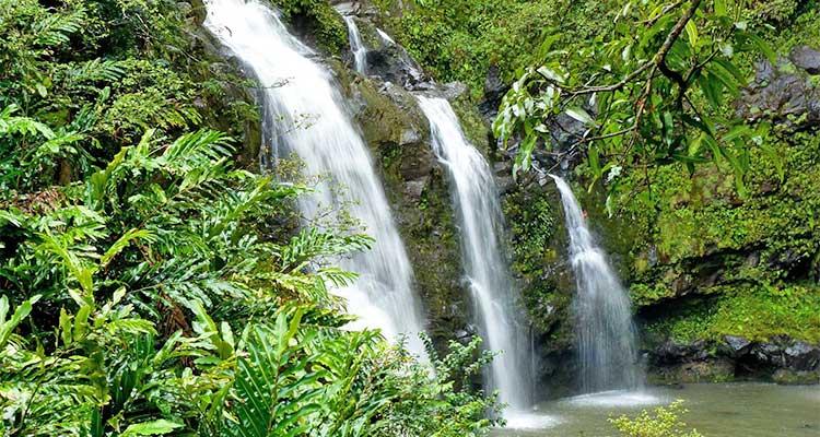 Hawaiian Honeymoon Waterfall
