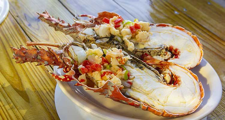 Caribbean islands for foodies - lobster