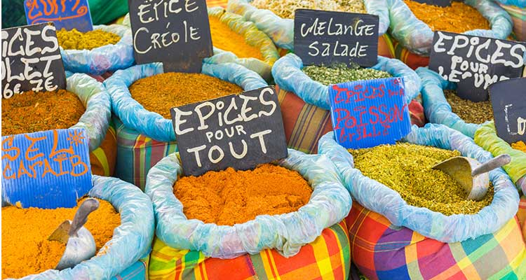 Caribbean islands for foodies - spices